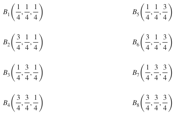 the midpoints for the triple integral