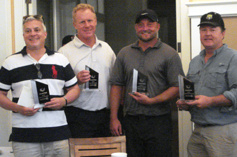 Second Place goes to the team with a score of 60: Steve Marshal, Bright House Networks (BHN); Dave Stokely, BHN; Justin Cook, BHN; and Bryan Lantz, FPL.