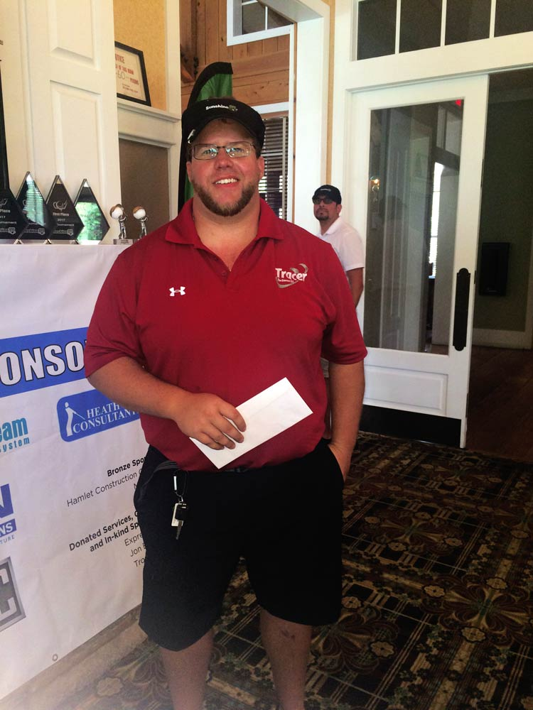 Robby O'Harold wins Closest to the Pin!