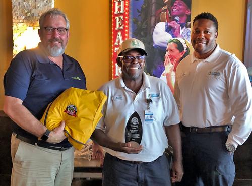 (L to R) Brian Dean, Sunshine 811 damage prevention liaison; Alvin Hurskin (M), City of Sarasota; Tim Hill, City of Sarasota.