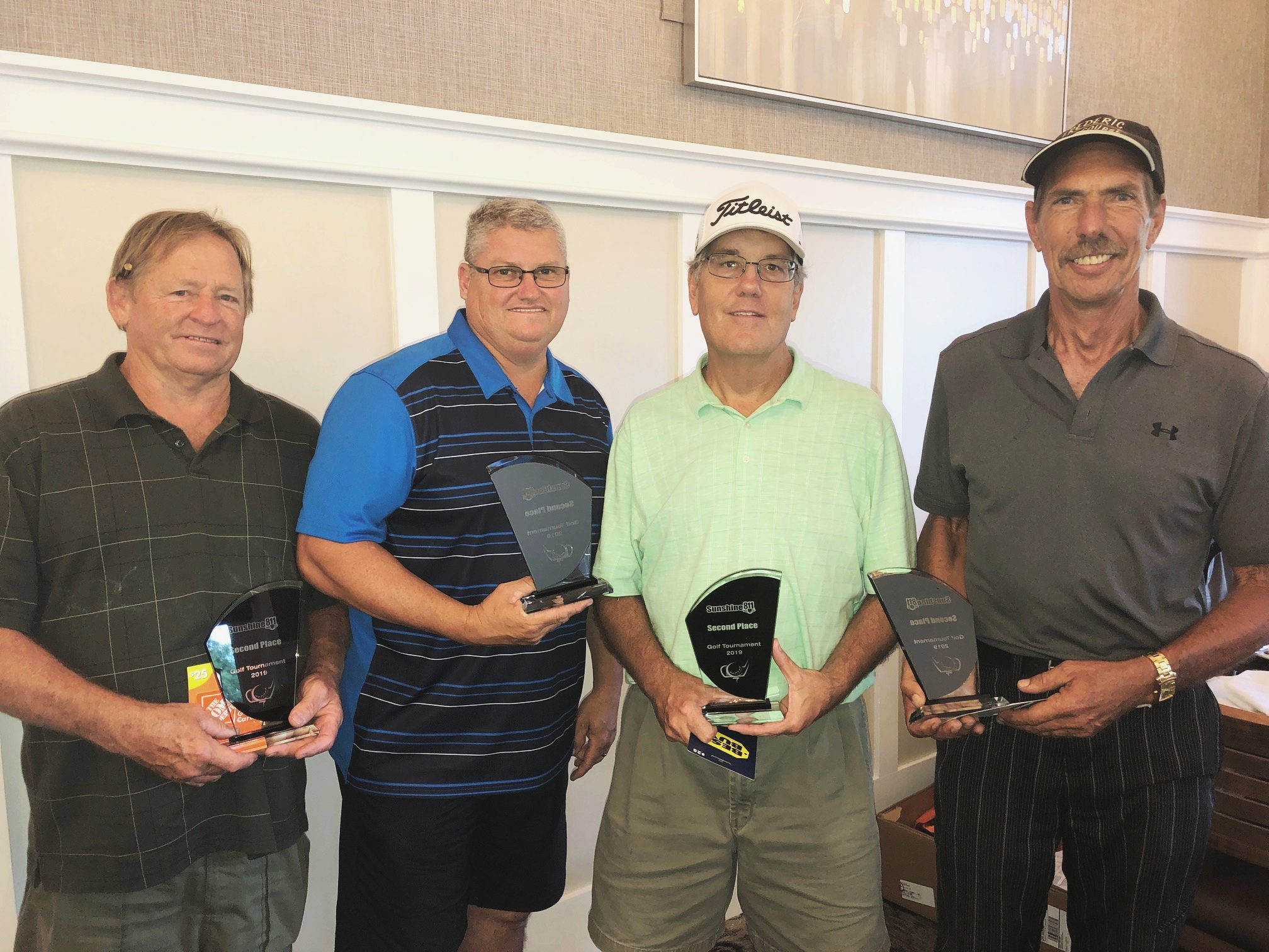 SECOND PLACE: Stan Johnson, Rick Glass, Bill Brown and Mike Bohn.