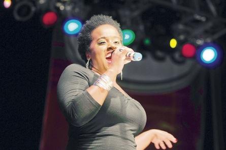 Etana in performance at the Grace Jamaican Jerk Festival in Weston, Florida last weekend.