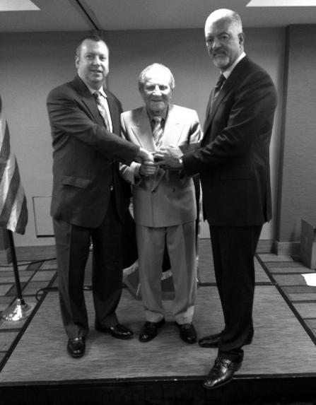 From the NOITU National Convention: l-r: IUJAT Secretary-Treasurer Bill Sweeney, NOITU National Trustee Danny Lasky and NOITU National President Gerard Jones