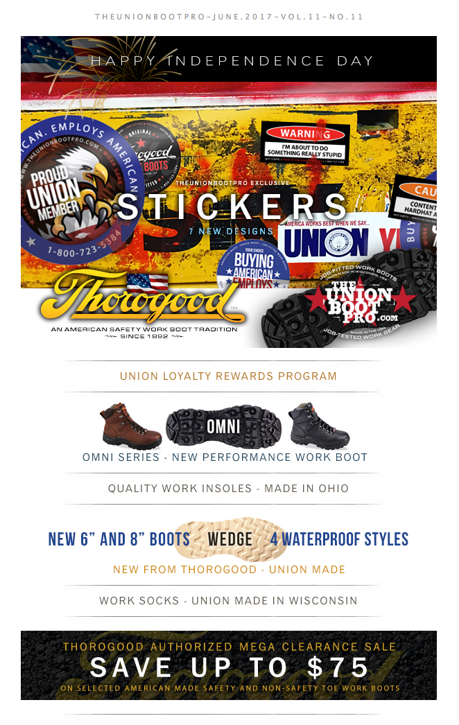 UNION MADE - BUILT IN USA! - Waterproof Wedge Work Boots | TEN NEW STYLES by Thorogood | NEW Hardhat Stickers | FREE SHIPPING