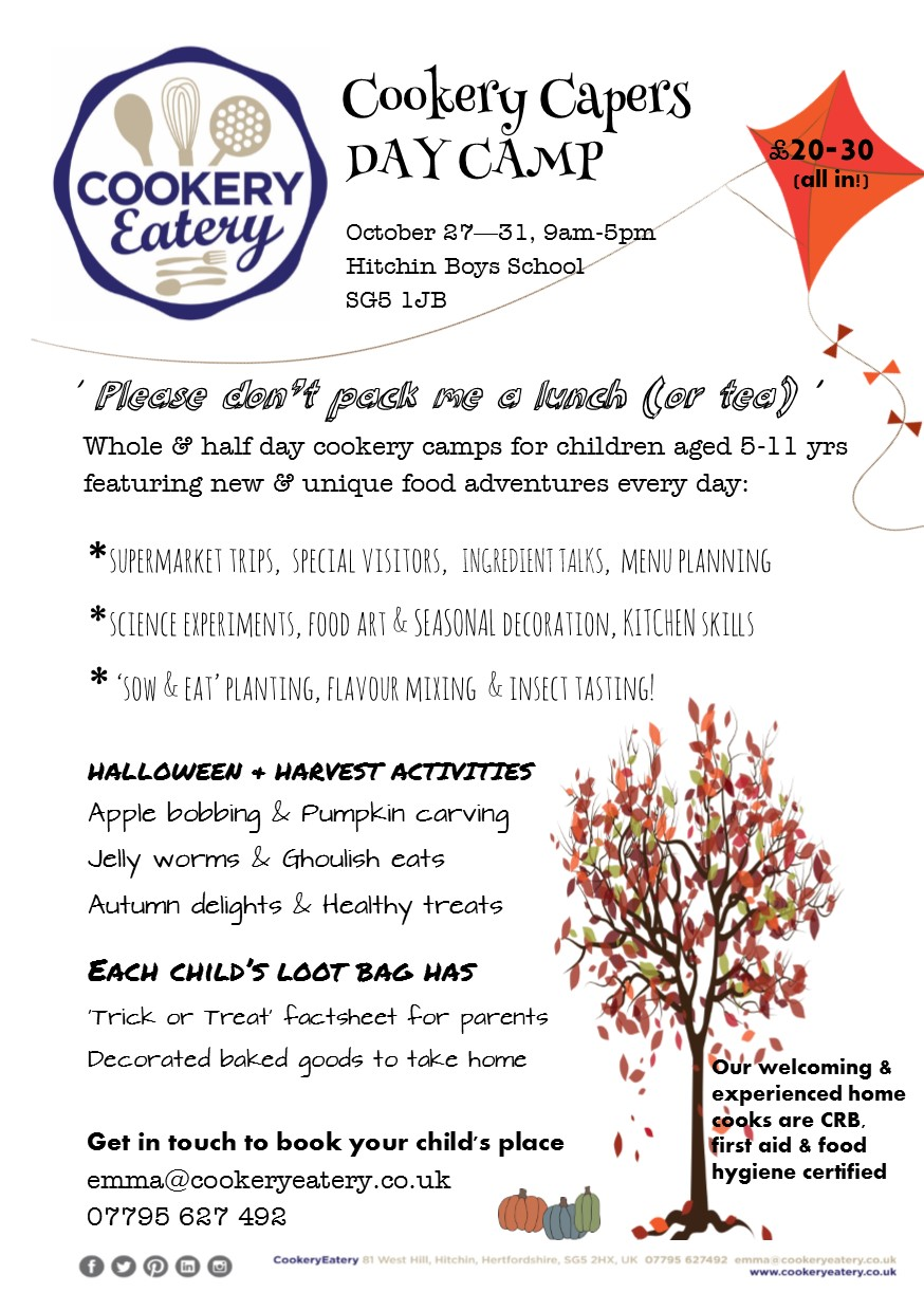 Cookery Capers. half term day camp.October14.FLYER.jpg