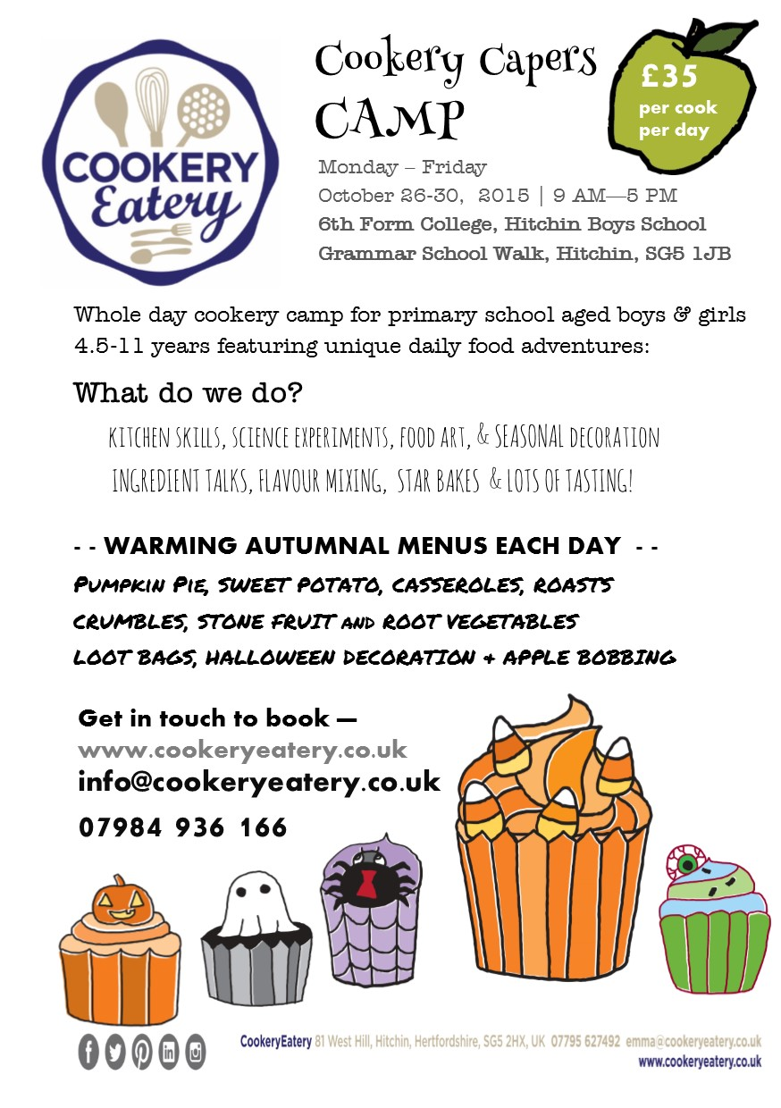 Cookery Capers. half term camp.Hitchin.Oct.15.FLYER.jpg