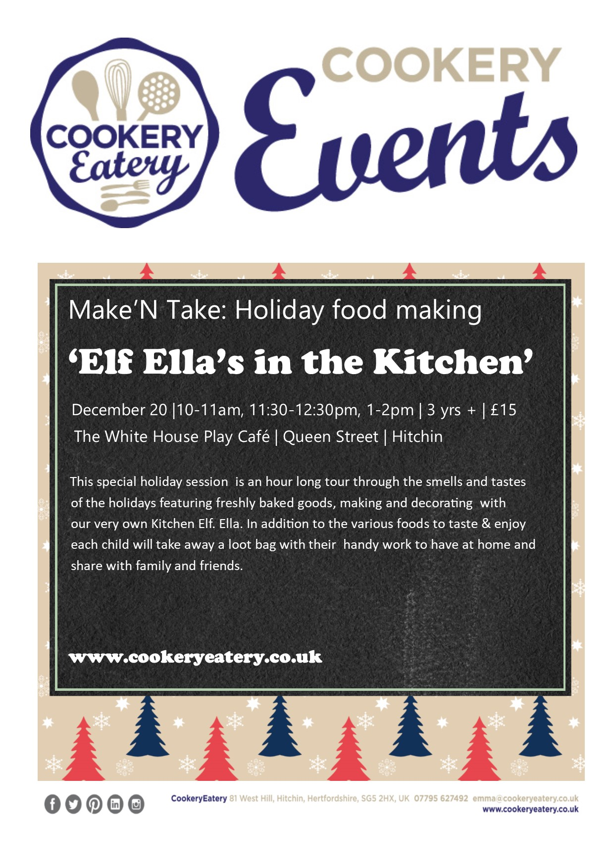 CookeryEatery.MAKE N TAKE. Elf Ella in the Kitchen.White House.20Dec17.jpg