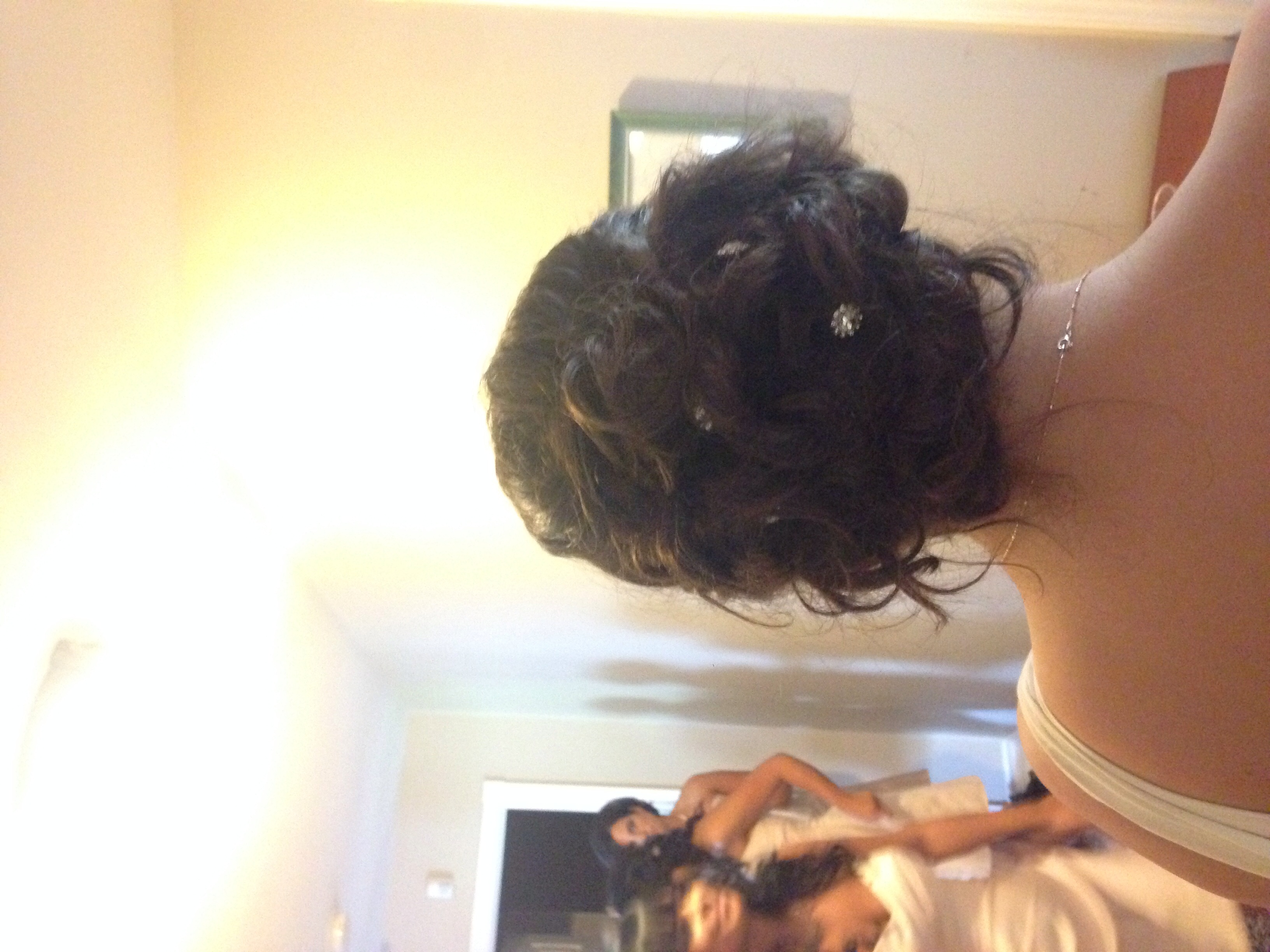 Updo hairstyle bridal party hair