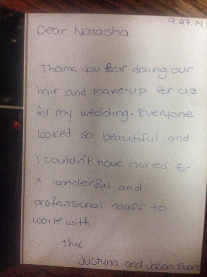 cllient thank you card wedding makeup and hair Hamilton.jpg