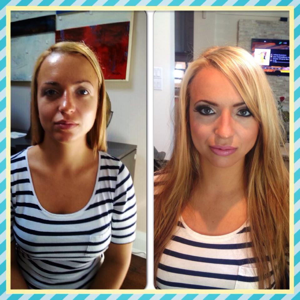 After Makeup Application