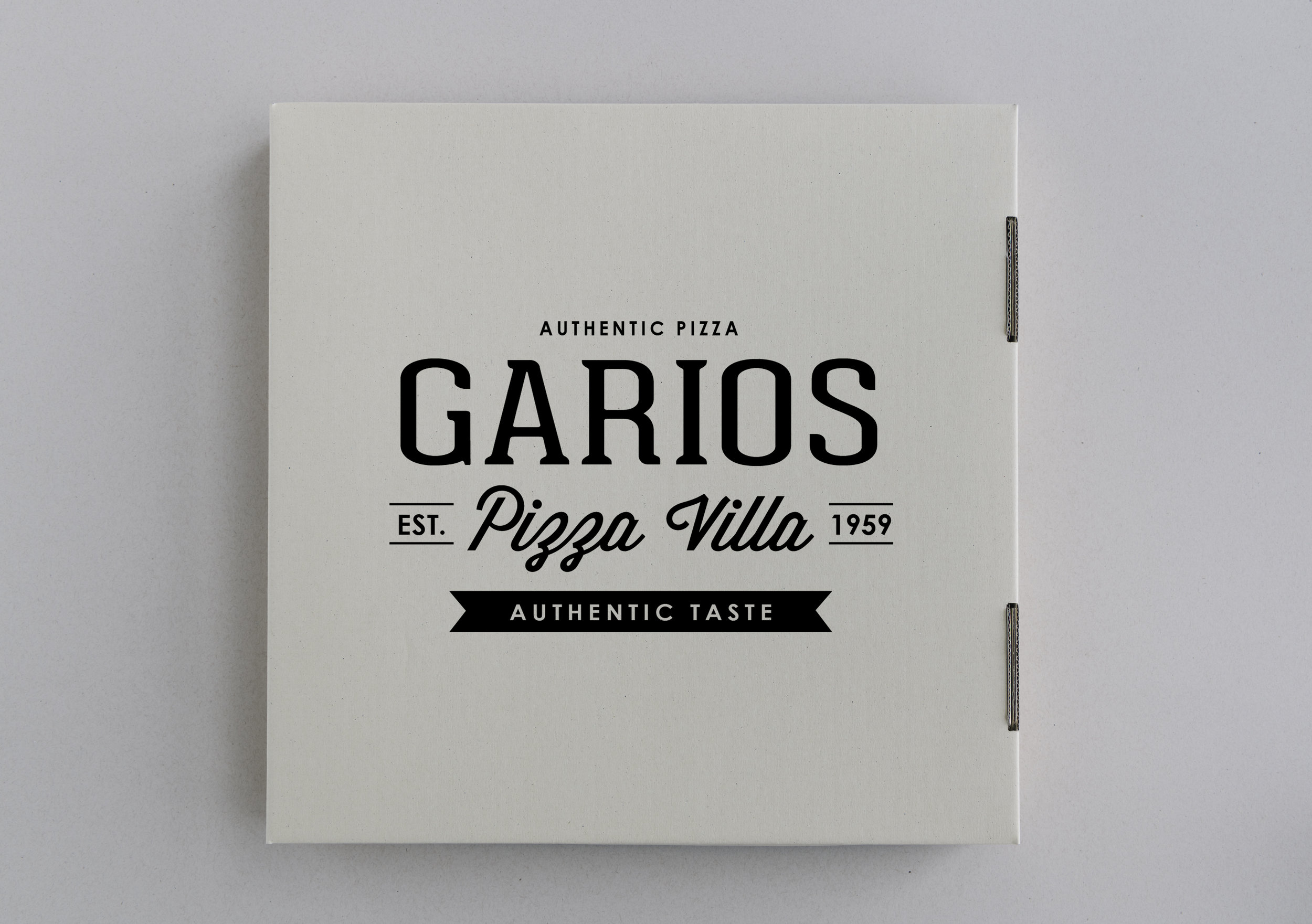Garios Pizza logo.