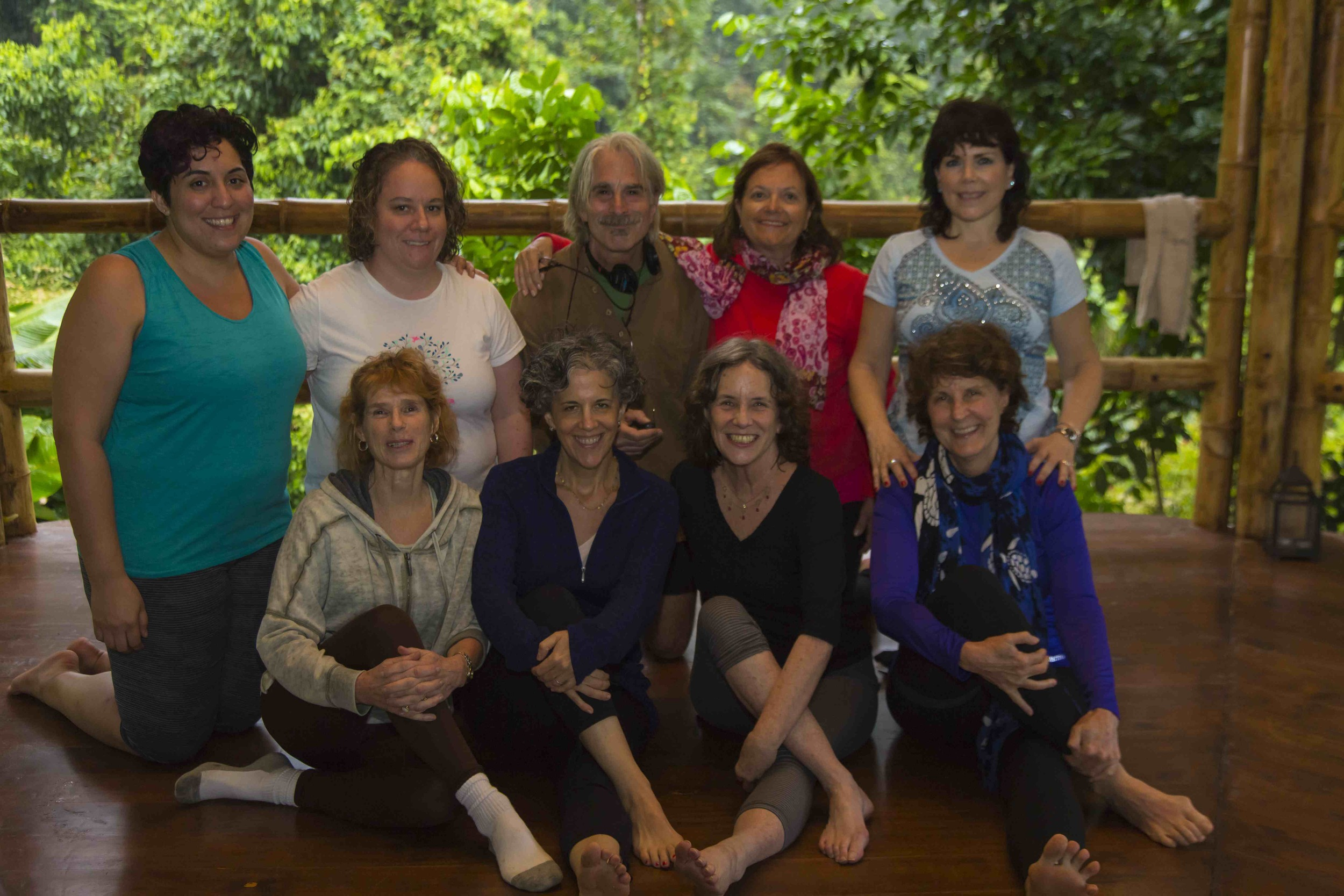 Susan and Linda (second and third from the left) with some of the fabulous students at the 2014 Restore, Refresh, Sustain retreat.