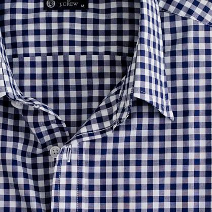 JCrew blue gingham shirt