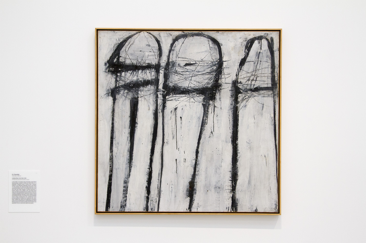 Cy Twombly, Untitled. Do some reading on this piece.