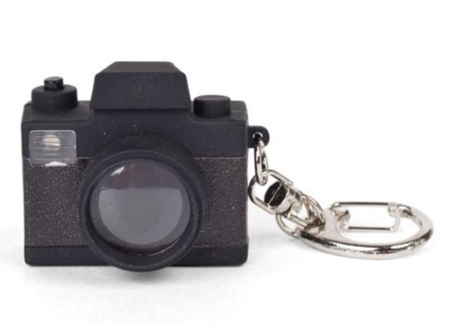 Flashing Camera Keychain