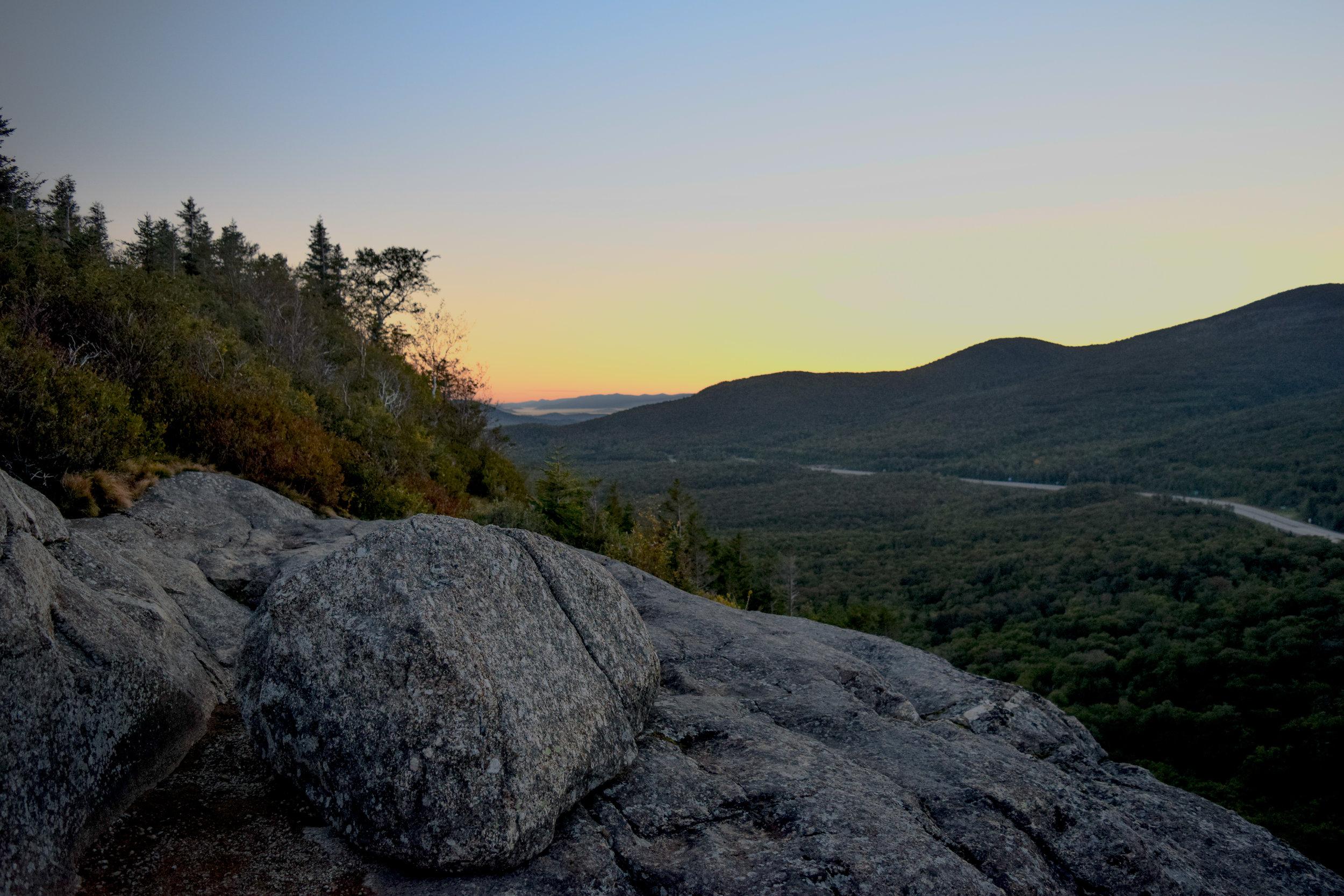 Sunrise over Artists Bluff