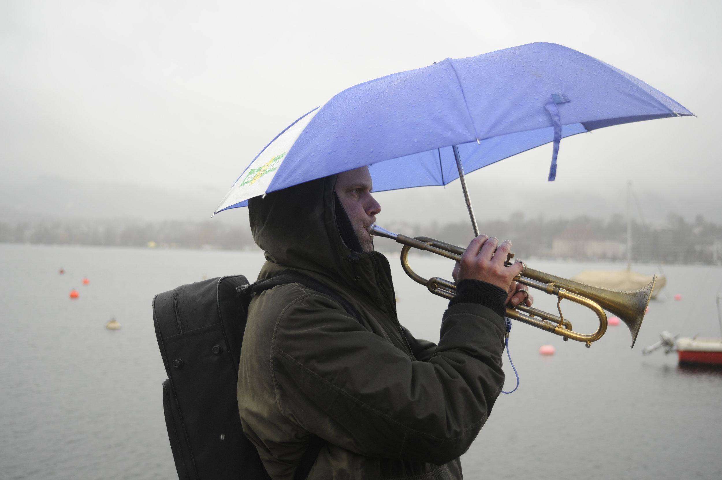 Umbrella and Trumpet