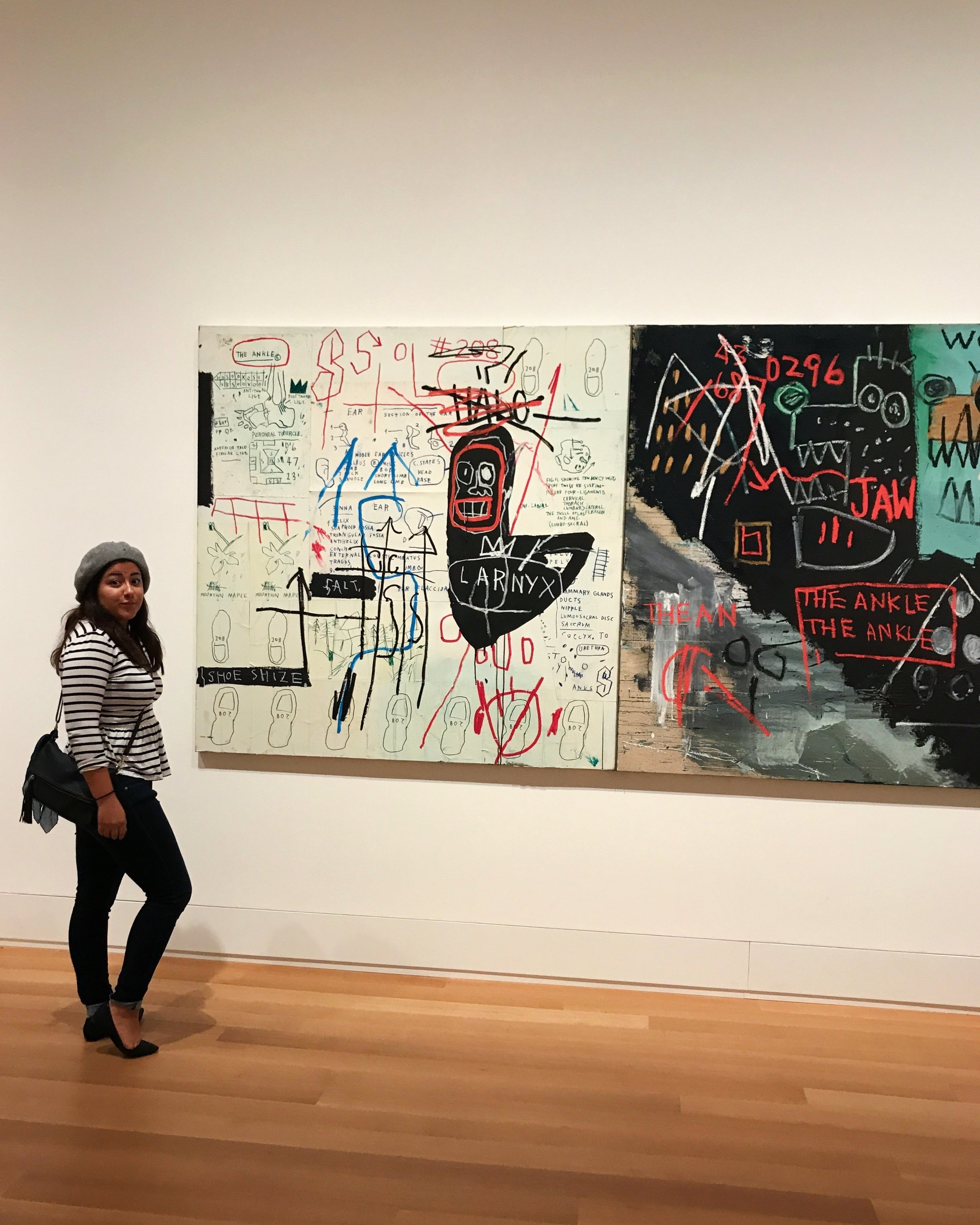 Love Basquiat! Ignore my sassy face.