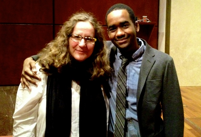 Director Anne de Mare with Terrance Ross from The Atlantic.