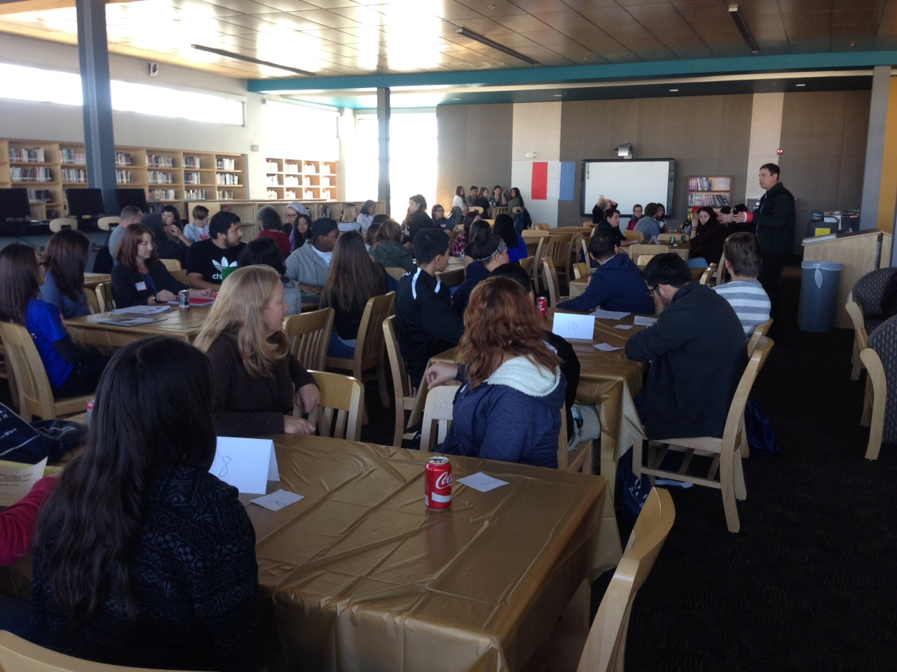 STUDENT LEADERSHIP FROM SCHOOLS ALL AROUND ALBUQUERQUE MET ON DECEMBER 5TH to SCREEN  THE HOMESTRETCH  AND discuss rising rates of homelessness among their PEERS.