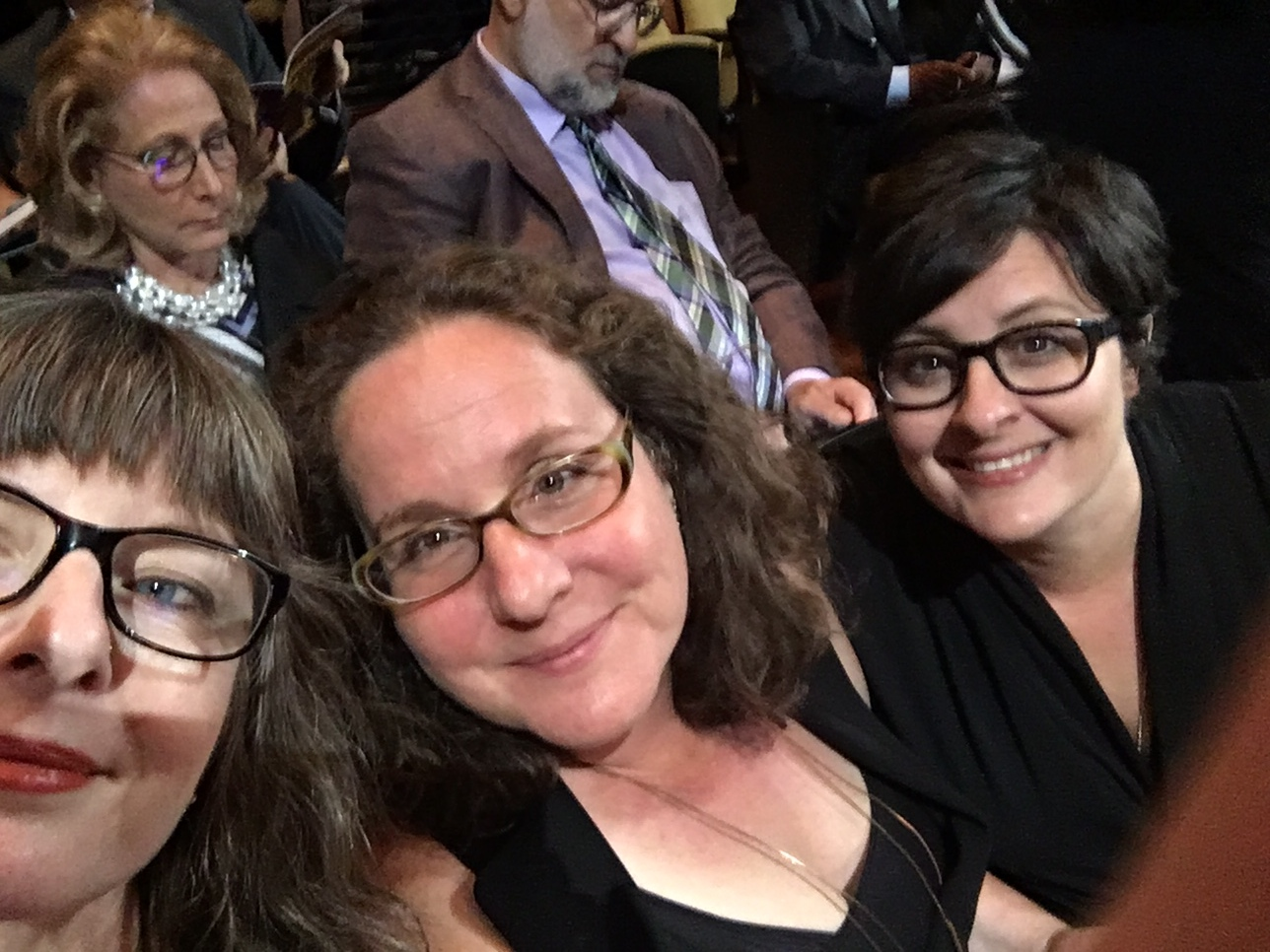 LESLIE SIMMER, ANNE DE MARE, and KIRSTEN KELLY IN THE AUDIENCE BEFORE THE WIN!