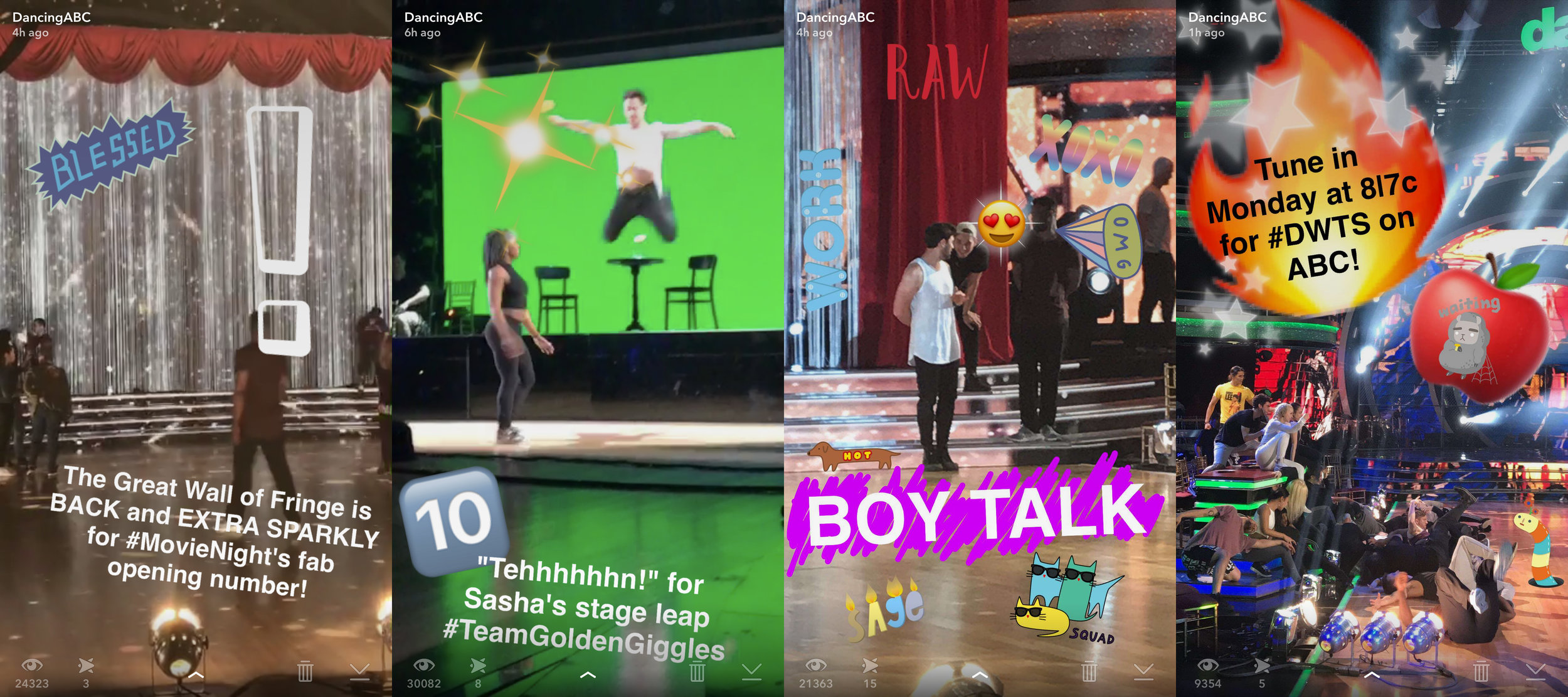 """DancingABC"" on Snapchat"