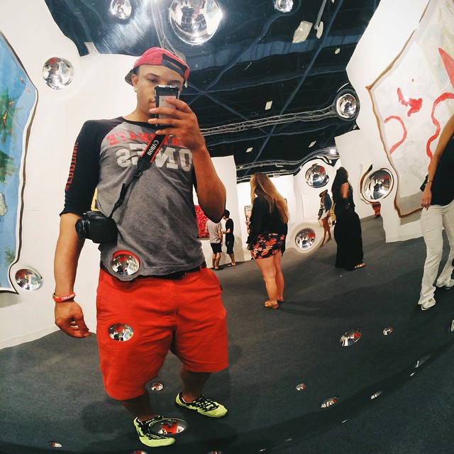 Live from #ArtBasel. It's art overload in here. So many ideas created. #miami #artislife #vscocam