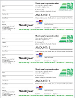 Click on Donor Receipt to download pdf - this is a two sided form with gift notes on back