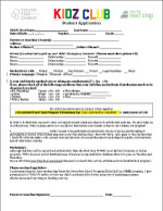 Kidz Club Student App  - pdf Two pages - Spanish on reverse