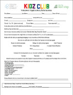 Kidz Club Volunteer App  - pdf