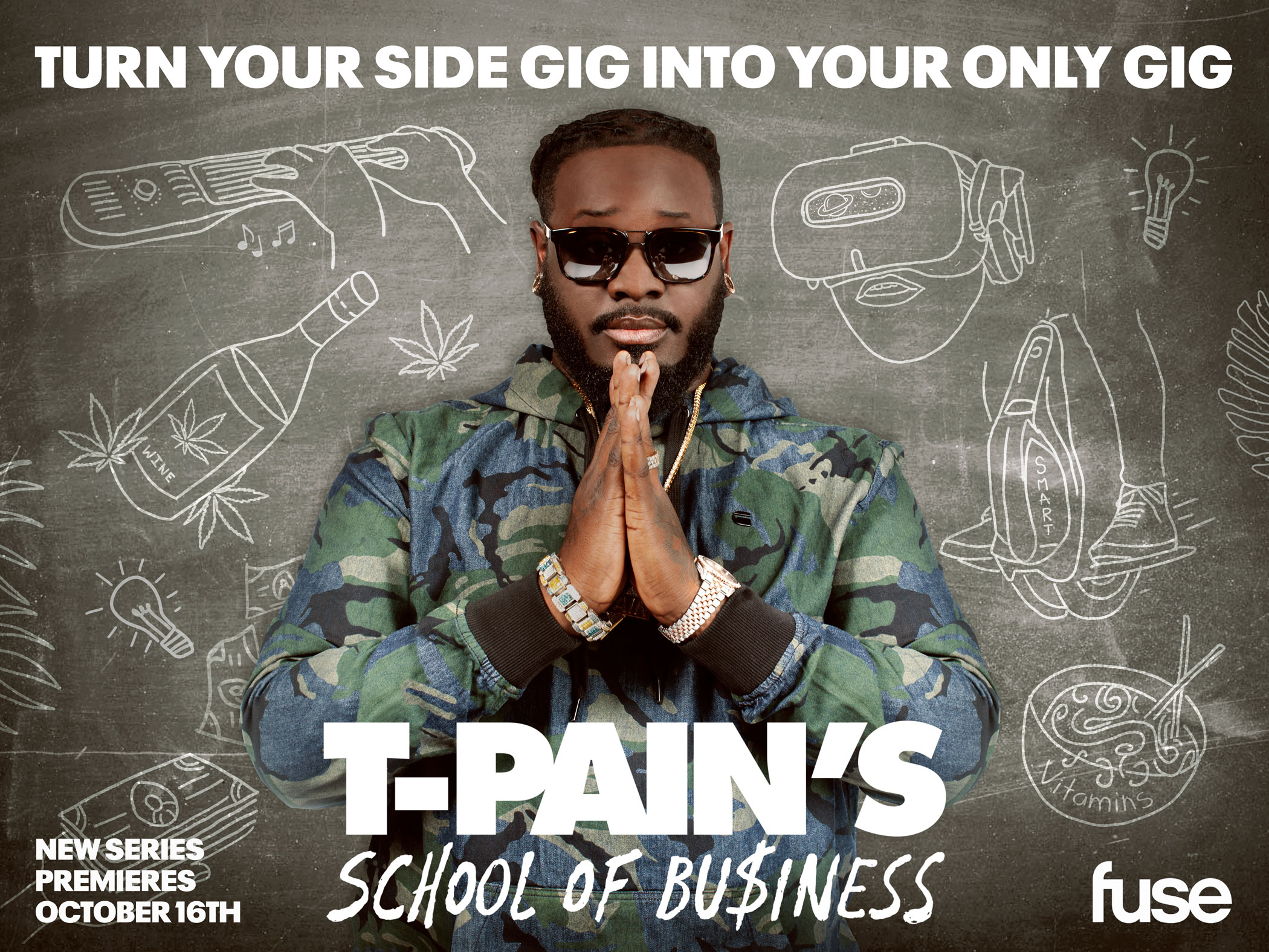 T-PAIN'S SCHOOL OF BUSINESS SHOW KEY ART DESIGN