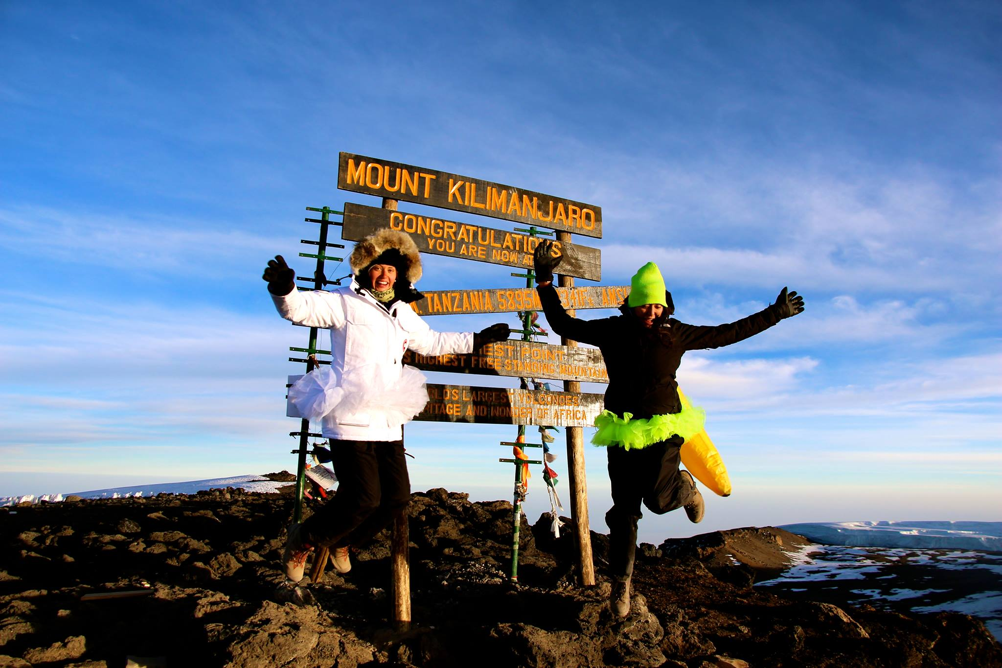 A moment of elation at Uhuru Peak