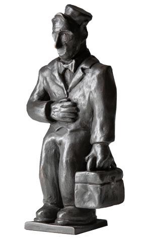 """Chet  (a bellman), 2006, cast bronze, 7.5 x 4.5 x 2.5"""""""