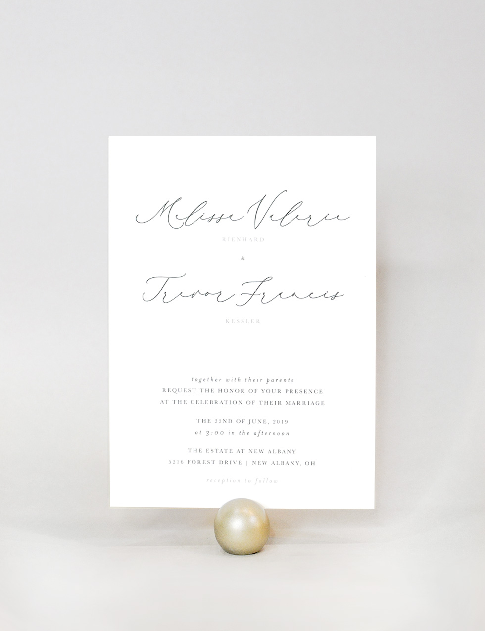 """Merlin - Merlin is a classy suite with a touch of personality. For the couple that wants a spin on the """"modern calligraphy script"""" this suite is for you."""