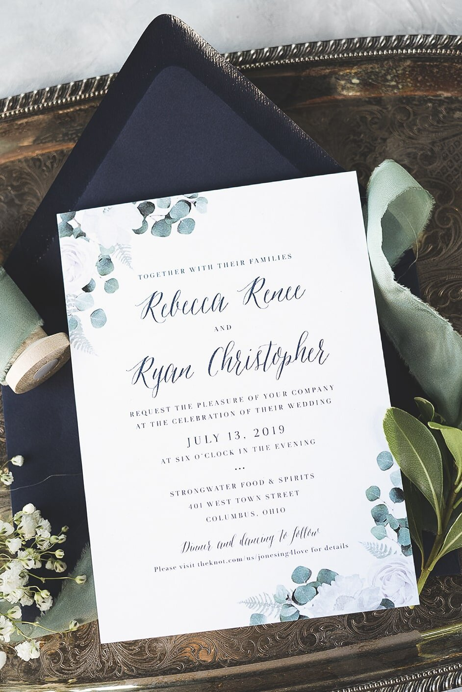 Invitation Photos by  Broc & Alexa Photography