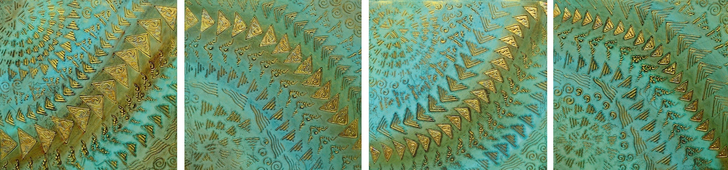 "A Four Part Brief on Coral Reef 1 - 4 @ 12' x 12' x 2"" (Horizontal)"