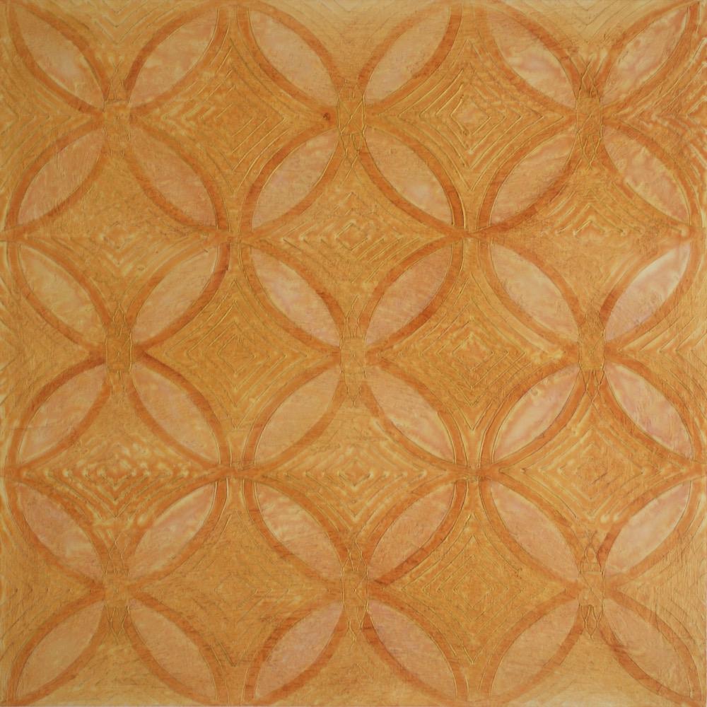 "Saffron's Garden in the Sun # 2 of 2 @ 36"" x 36"" x 2"" Acrylic & oil on archival board"