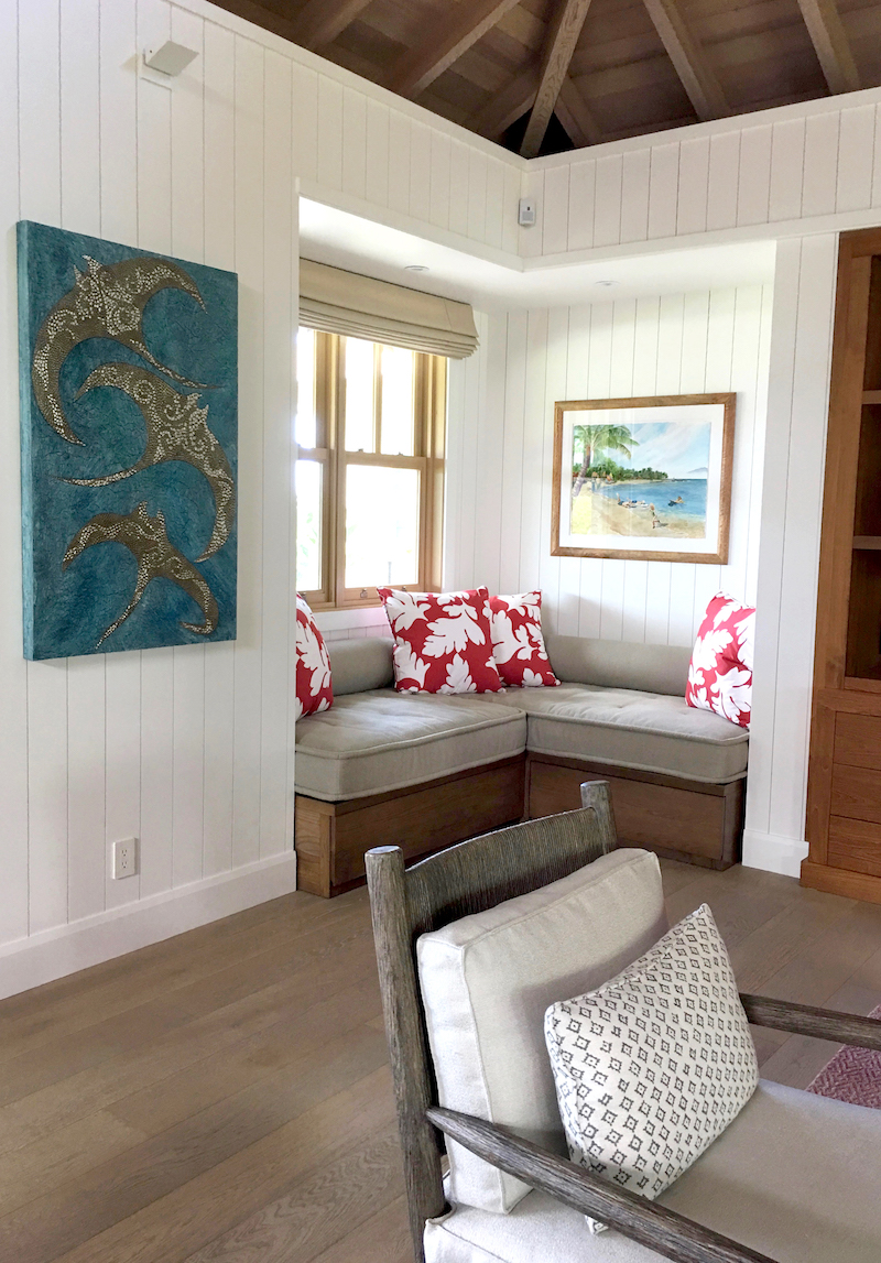 Pune'e side of master room facing main entry - Kukio - Kohala Coast, Hawai'i - Chip's Ohana #2 of 2 - diptych on multiples page.