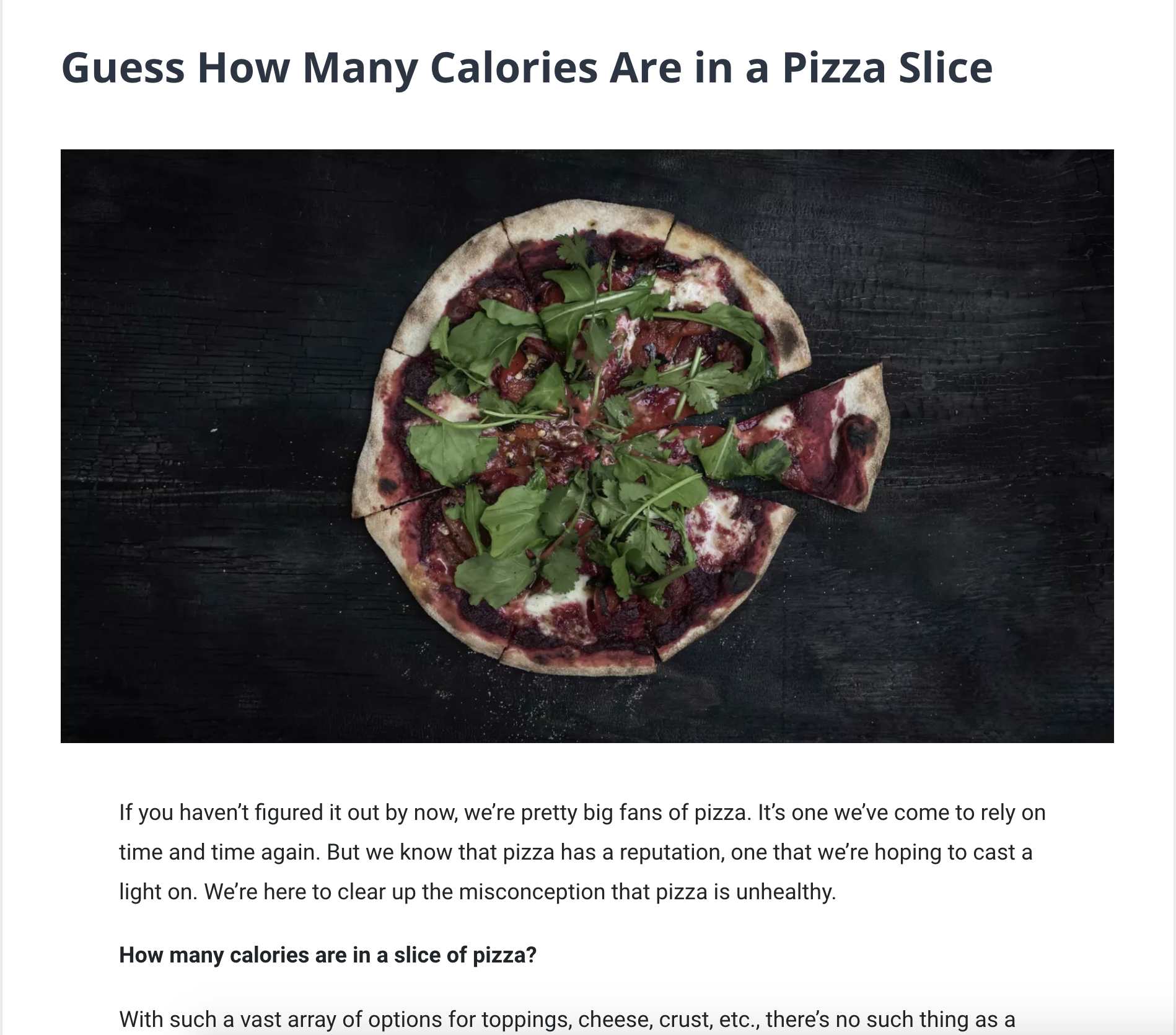 Guess How Many Calories Are In a Pizza Slice