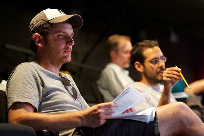 Nicholas & Julien taking notes during Tech.