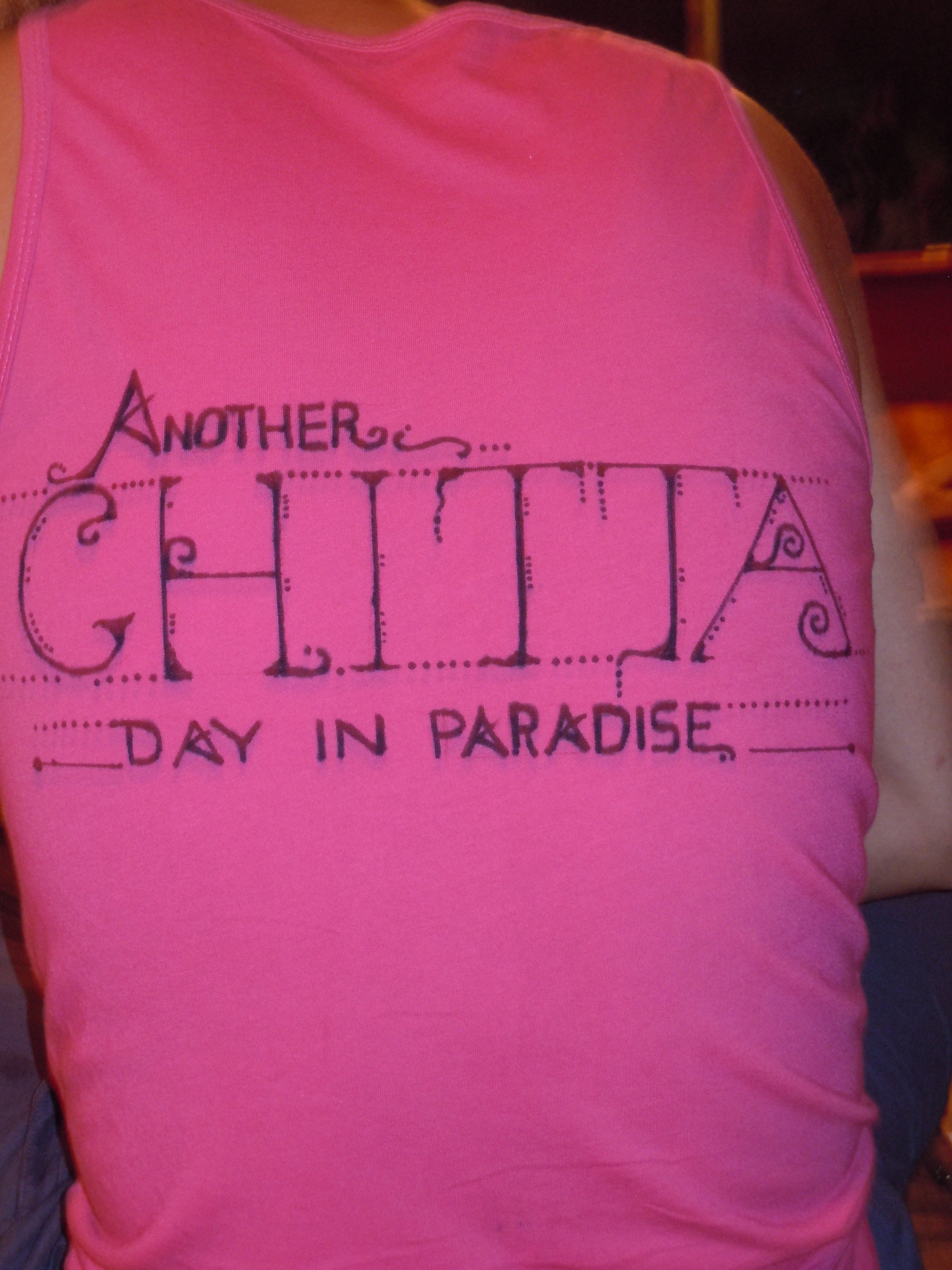Another Chitta Day in Paradise. Artwork by David Smith.