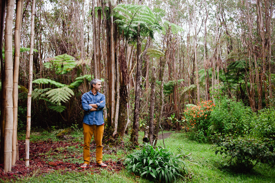 Vicent in the jungle. Mountain View, Hawaii 2015.