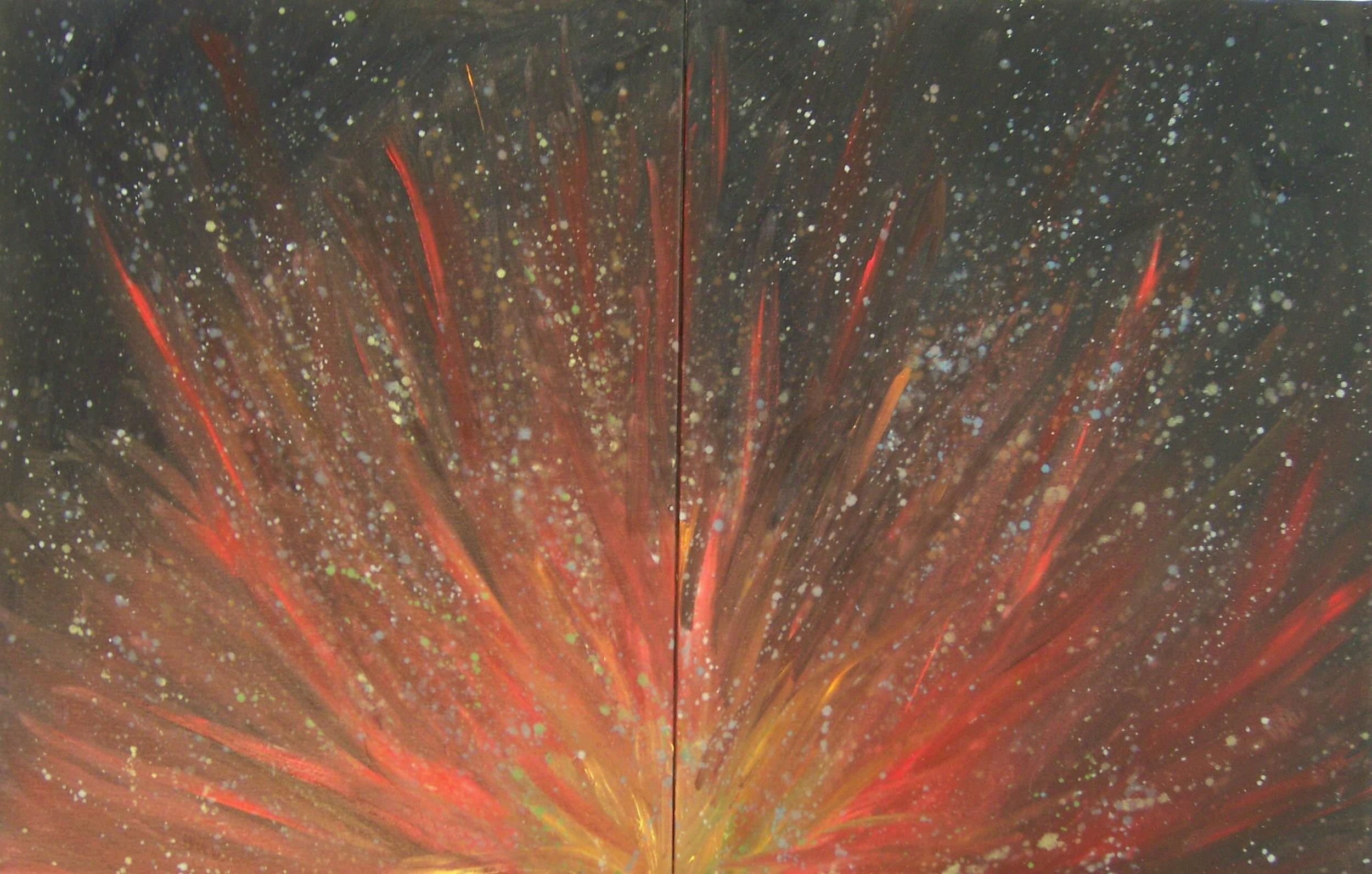 Smoke Dance, Oil on canvas, 14''x18'', 2007