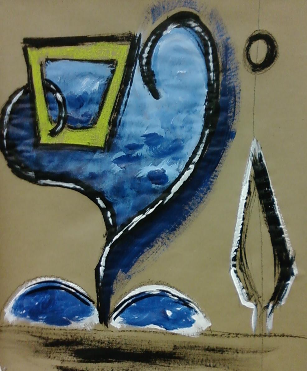 Untitled, ink, tempera, pastel. 2010