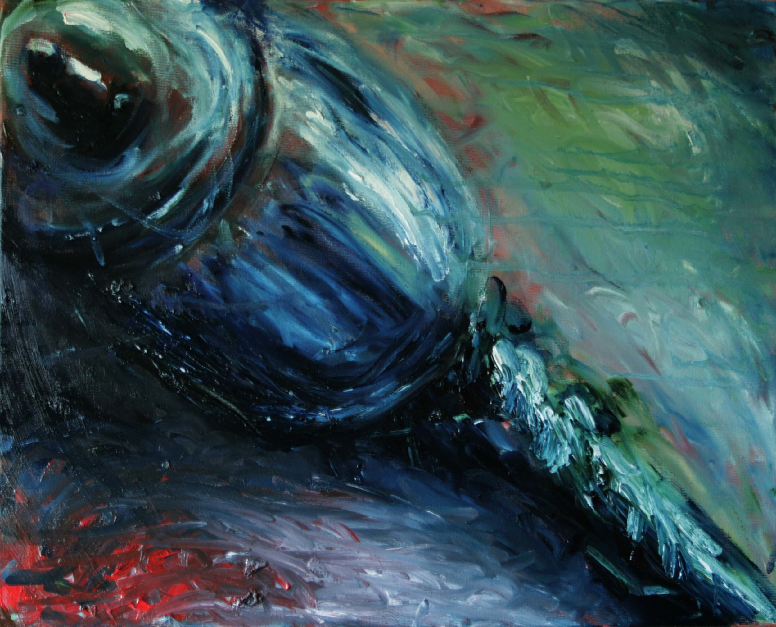 Impression Horn Rattle, Oil on canvas, 16''x20'', 2008
