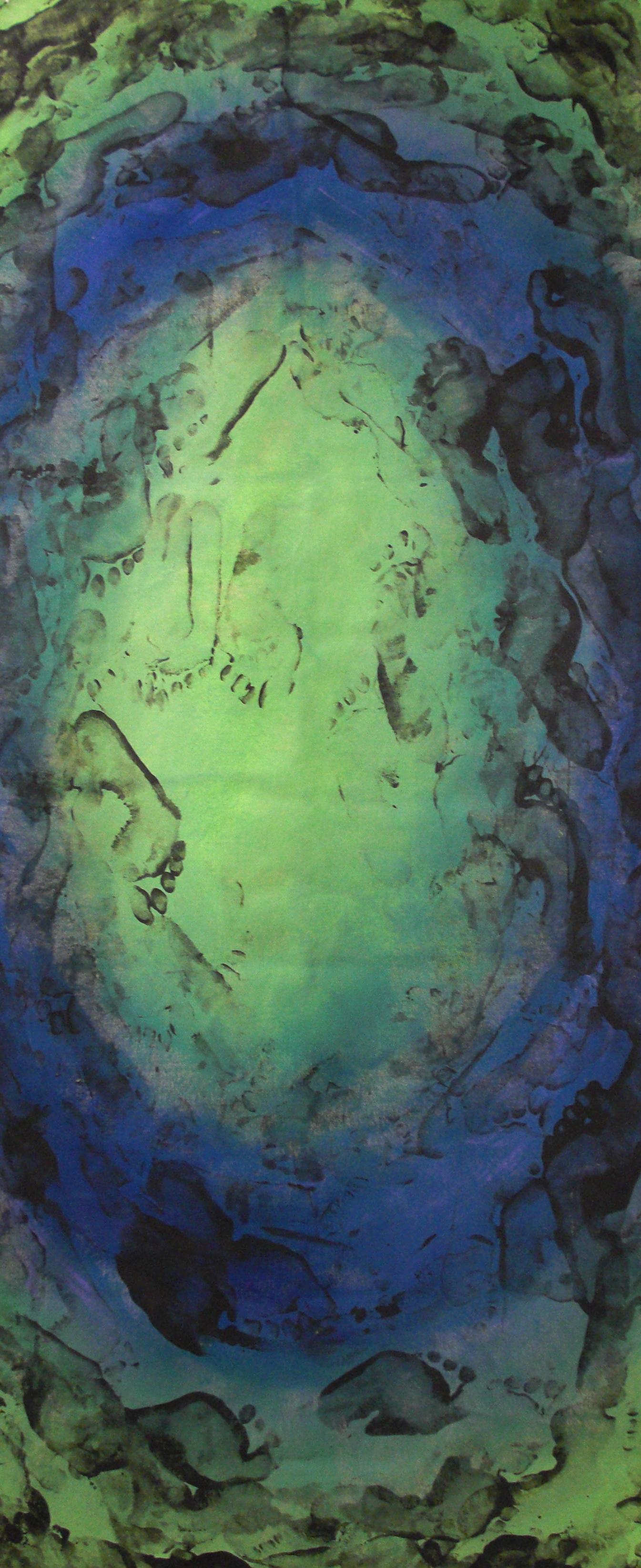 Dance #5, acrylic on canvas, 2'x6', 2010-2011
