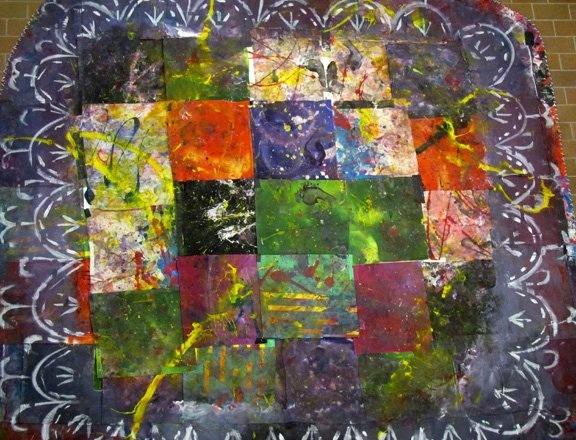 Dance #12, acrylic on canvas, 8'x9', 2010-2011
