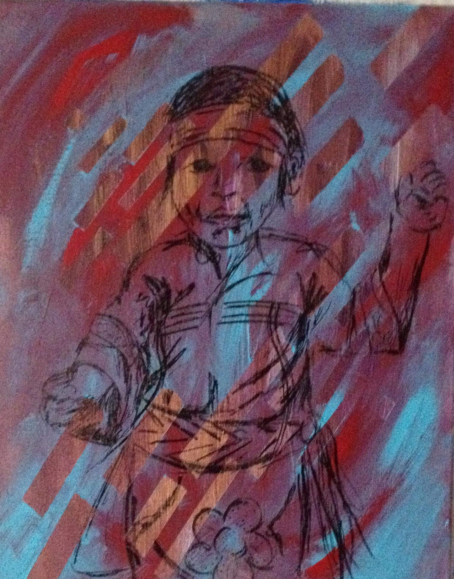 Sunny D, Acrylic on canvas, 16''x20'', 2013
