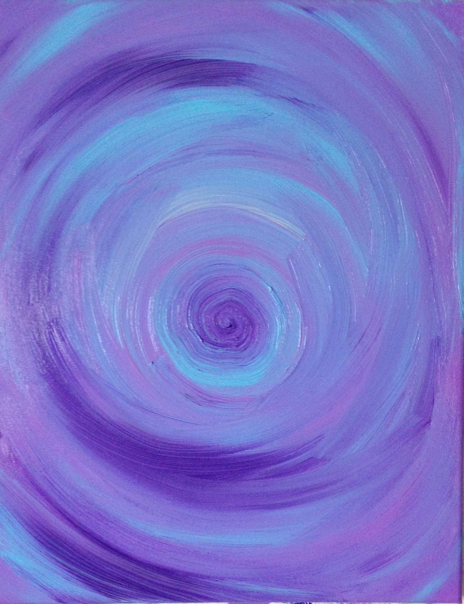 untitled (blue), acrylic on canvas, 16''x20'', 2013