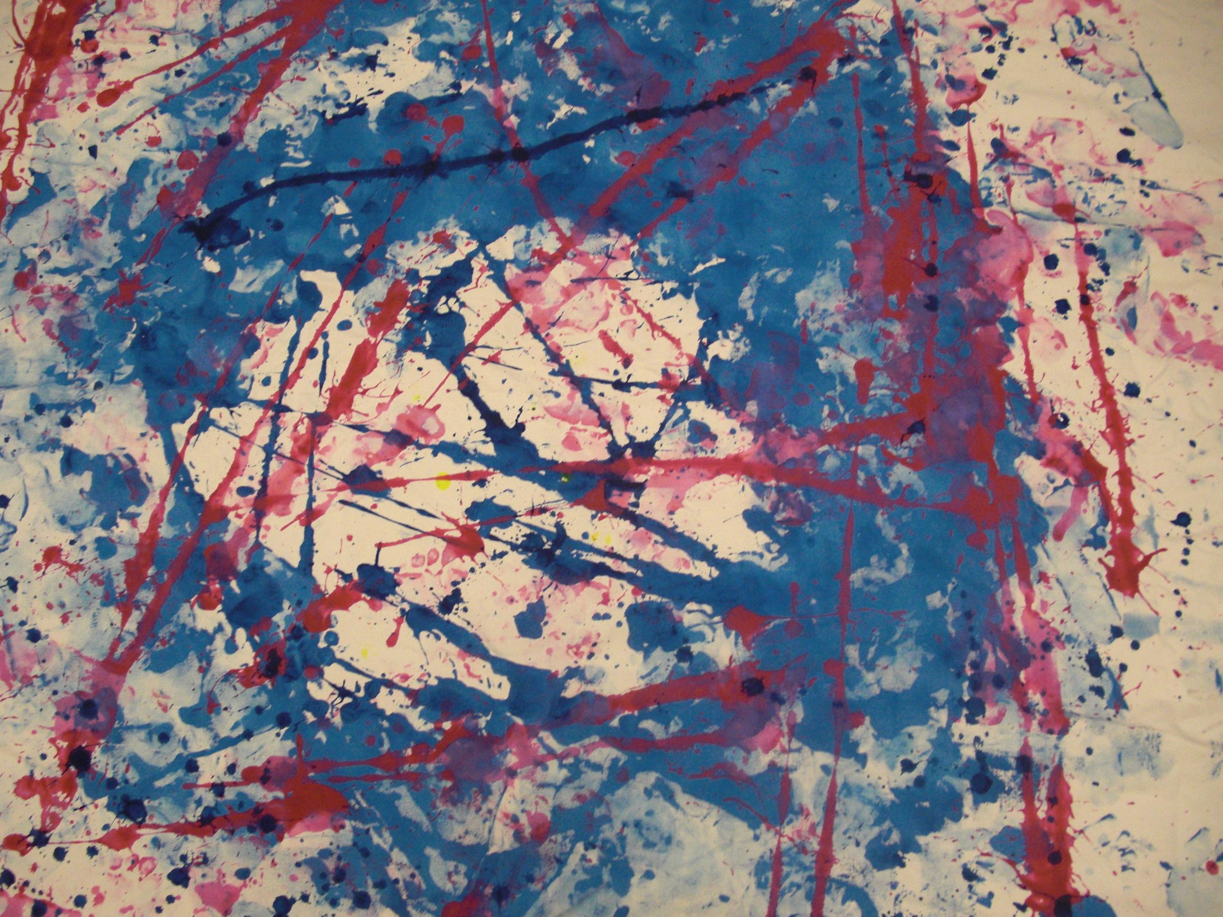 Dance #1, tempera on canvas, 5'x6', 2010